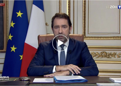 Intervention de Christophe Castaner au JT de 20h de TF1 du 18/03